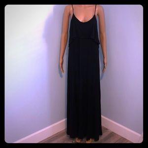 Black Low Back Maxi Dress - NWOT - Large